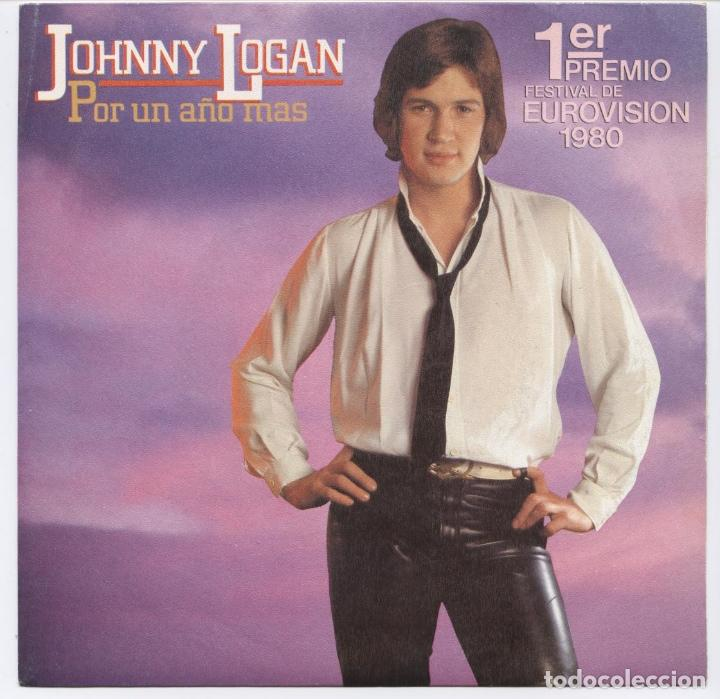 JOHNNY LOGAN POR UN AÑO MAS/ONE NIGHT STAND_7'' SPAIN SINGLE 1980 COMO NUEVO!!!! (Música - Discos - LP Vinilo - Festival de Eurovisión)