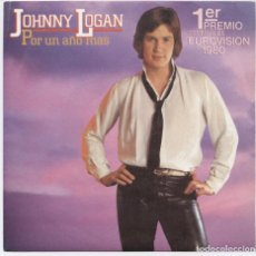 Discos de vinilo: JOHNNY LOGAN POR UN AÑO MAS/ONE NIGHT STAND_7'' SPAIN SINGLE 1980 COMO NUEVO!!!!. Lote 105708955