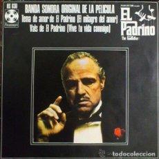 Discos de vinilo: NINO ROTA– BANDA SONORA ORIGINAL DE LA PELICULA EL PADRINO - SINGLE SPAIN 1972. Lote 105713351
