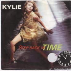 Discos de vinilo: KYLIE MINOGUE_STEP BACK IN TIME_7'' SPAIN SINGLE_1990 COMO NUEVO!!. Lote 105718283