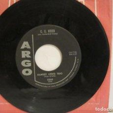 Discos de vinilo: RAMSEY LEWIS TRIO - C.C. RIDER / CONSIDER THE SOURCE - 1959 - ARGO - USA - VG. Lote 107431116
