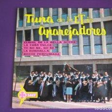 Discos de vinilo: TUNA DE LA ET APAREJADORES EP SAEF 1962 CLAVEL DE LA BELLA NOCHE/ LA CAÑA DULCE / LA RONDALLA +1. Lote 109499839