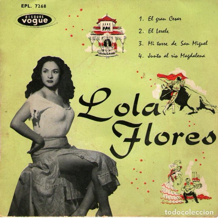 LOLA FLORES - EP VINILO 7'' - EDITADO EN FRANCIA - EL LERELE + 3 - SEECO VOGUE (Música - Discos de Vinilo - EPs - Flamenco, Canción española y Cuplé)