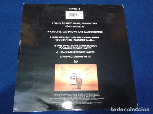 """Discos de vinilo: Vinilo, 7"""", Single, 45 RPM ( DAVID BOWIE - WHEN THE WIND BLOWS ) 1986 VIRGIN - Foto 2 - 105768927"""