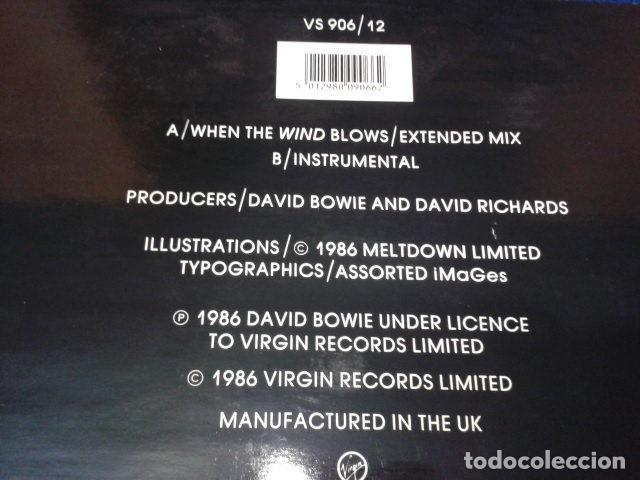 """Discos de vinilo: Vinilo, 7"""", Single, 45 RPM ( DAVID BOWIE - WHEN THE WIND BLOWS ) 1986 VIRGIN - Foto 3 - 105768927"""