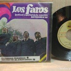 Discos de vinilo: LOS FAROS SG. ILUSIONES PERDIDAS. Lote 105774559