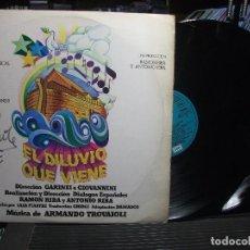 Discos de vinilo: EL DILUVIO QUE VIENE - BSO COMEDIA MUSICAL - EDICIÓN DE 1977 DE ESPAÑA - LP DOBLE - FIRMADO PEPETO. Lote 105779815