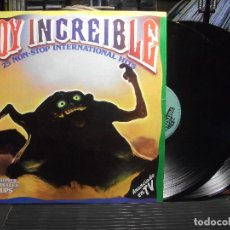 Discos de vinilo: SOY INCREIBLE - 25 NON-STOP INTERNATIONAL HITS /DOBLE LP POLYSTAR DE 1985 PEPETO. Lote 105779939