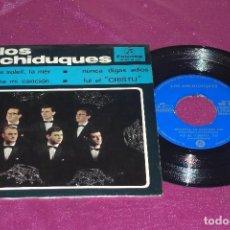 Discos de vinilo: LOS ARCHIDUQUES SINGLE COLUMBIA 1965 LE CIEL, LE SOLEIL ESCUCHA MI CANCION NUNCA DIGAS ADIOS. Lote 105783619