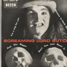 Discos de vinilo: SCREAMING LORD SUTCH ‎– SCREAMING LORD SUTCH - EP- FRANCE - DECCA 457 063. Lote 105785667
