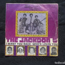 Discos de vinilo: THE JACKSON FIVE // I WANT YOU - WHO´S LOVIN YOU. Lote 105803455