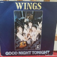 Discos de vinilo: PAUL MCCARTNEY - WINGS- BEATLES - GOODNIGHT TONIGHT- SINGLE- FRANCIA- BUEN ESTADO- 1979. Lote 105840383