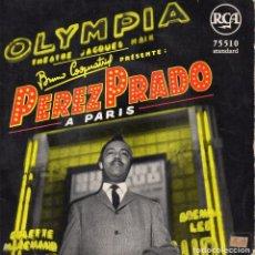 Discos de vinilo: PEREZ PRADO, EP, PARIS + 3, AÑO 19?? MADE IN FRANCE. Lote 105843979