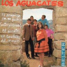 Discos de vinilo: AGUACATES, LOS, EP, EL DOMINGO EN MI PUEBLO + 3, AÑO 1968. Lote 105844435