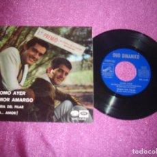 Discos de vinilo: EP - DUO DINÁMICO - COMO AYER / AMOR AMARGO / MARIA DEL PILAR / ¡AAA... AMOR! - EMI 1966. Lote 105881627