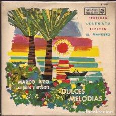 Discos de vinilo: EP-DULCES MELODIAS MARCO RIZO ROULETTE 3232 SPAIN 1963 PORTADA BORT. Lote 105885055