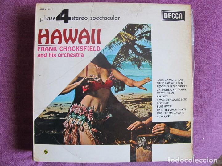 LP - FRANK CHACKSFIELD - HAWAII (SPAIN, DECCA 4 FASES 1976) (Música - Discos - LP Vinilo - Orquestas)
