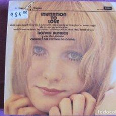 Discos de vinilo: LP - RONNIE ALDRICH AND HIS TWO PIANOS - INVITATION TO LOVE (SPAIN, DECCA-4 FASES 1974). Lote 105911091