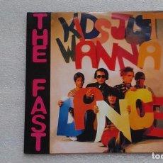 Discos de vinilo: THE FAST - KIDS JUST WANNA DANCE SINGLE 3 TEMAS 2003 DISCO VIOLETA PUNK POWER POP. Lote 105913975