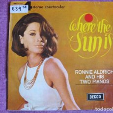 Discos de vinil: LP - RONNIE ALDRICH AND HIS TWO PIANOS - WHERE THE SUN IS (SPAIN, DECCA-4 FASES 1966). Lote 105915127