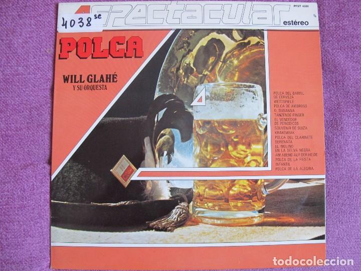 LP - WILL GLAHE Y SU ORQUESTA - POLCA (SPAIN, TELEFUNKEN 4 FASES 1983) (Música - Discos - LP Vinilo - Orquestas)