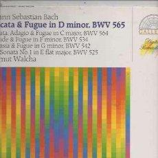 Discos de vinilo: JOHANN SEBASTIAN BACH / HELMUT WALCHA – TOCCATA ET FUGUE EN RÉ MINEUR, BWV 565 - LP GERMANY 1986. Lote 105938499