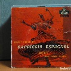 Discos de vinilo: RIMSKY-KORSAKOV - CAPRICCIO ESPAGNOL OPUS 34 - DECCA SDGE 80166 - 1959. Lote 105944567