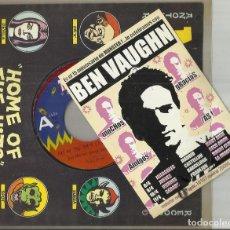 Disques de vinyle: BEN VAUGHN SINGLE OUT ON THE PORCH 1996 CON TARJETA PROMO. Lote 105947875