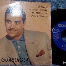 Discos de vinilo: JOSE GUARDIOLA - LA NOVIA / ESTANDO CONTIGO / OL' MAN RIVER / CARITA MORENA - 1961. Lote 105951423