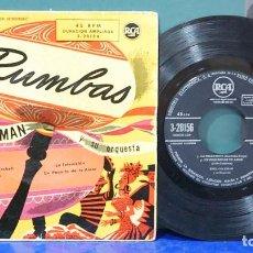 Disques de vinyle: EMIL COLEMAN Y SU ORQUESTA. RUMBAS. RCS, REF. 3-20156. Lote 105976191