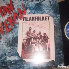 Discos de vinilo: FILARFOLKET UTAN TVEKA FOLK NORDICO (AMALTHEA -1982) OG FILANDIA EXCENTE MUY RARO ACID FOLK. Lote 105987327