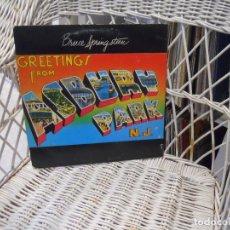 Discos de vinilo: BRUCE SPRINGSTEEN– GREETINGS FROM ASBURY PARK, N.J.LP ORIGINAL USA 1975.CARPETA TROQUELADA. Lote 105999235