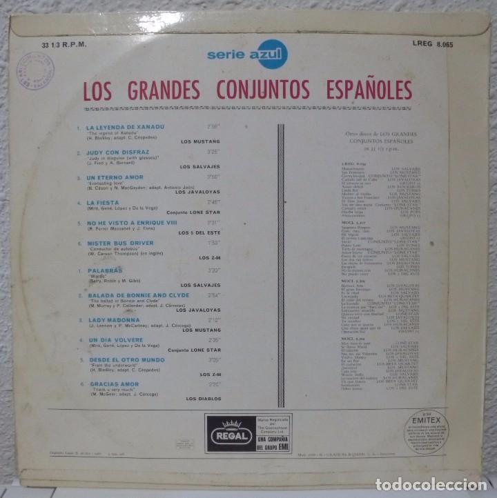 Discos de vinilo: LOS GRANDES CONJUNTOS ESPAÑOLES (LP REGAL 1968) LOS SALVAJES · Z-66 · LONE STAR · MUSTANG - Foto 2 - 105999723