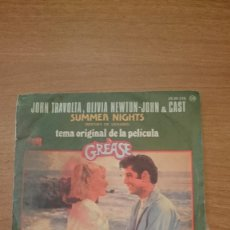 Discos de vinilo: MUSICA SINGLE: GREASE JOHN TRAVOLTA OLIVIA NEWTON-JOHN Y CAST. SUMMER . Lote 106004755