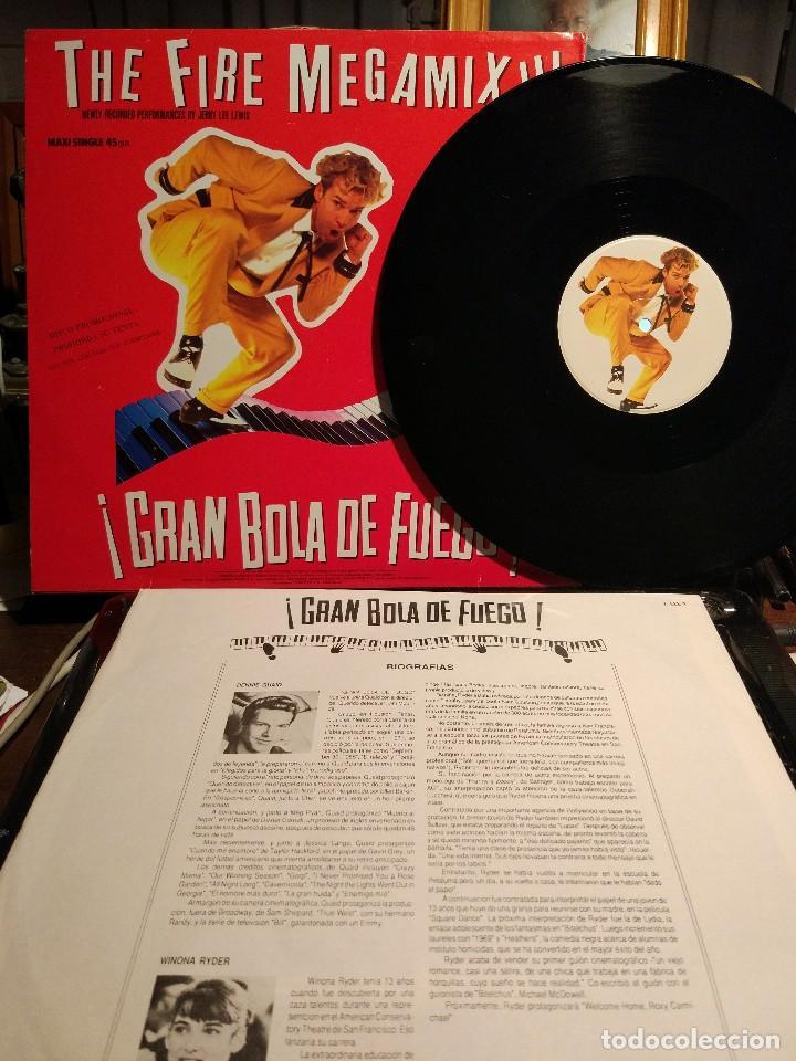 Discos de vinilo: JERRY LEE LEWIS THE FIRE MEGAMIX Edc. 40 Principales Promo / a estrenar - Foto 2 - 106004791