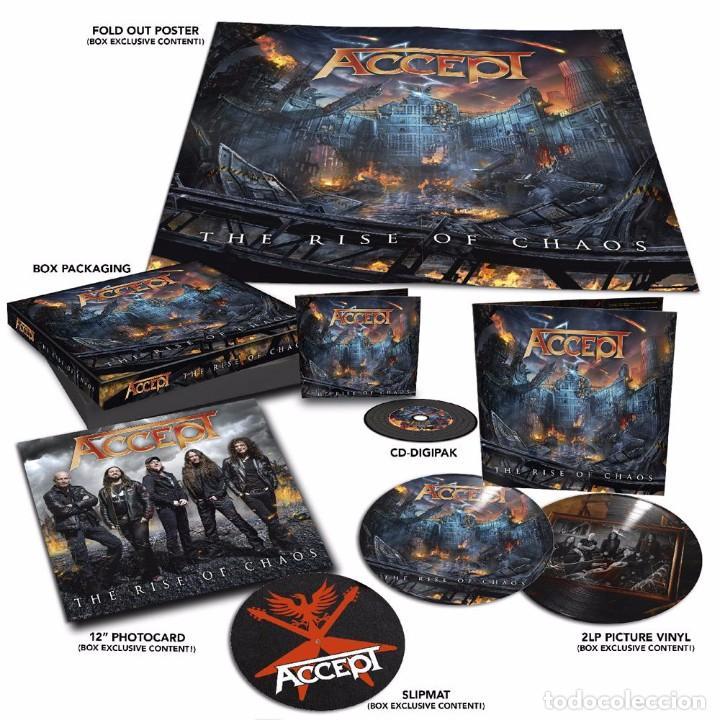 ACCEPT - THE RISE OF CHAOS 1CD + 2 PICTURE LPS EDICIÓN LIMITADA BOX SET PRECINTADO (Música - Discos - LP Vinilo - Heavy - Metal)