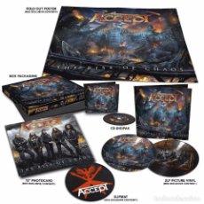 Discos de vinilo: ACCEPT - THE RISE OF CHAOS 1CD + 2 PICTURE LPS EDICIÓN LIMITADA BOX SET PRECINTADO. Lote 106005295