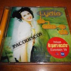 Discos de vinilo: LYDIA 100 VECES AL DIA TEMA DE EUROVISION 1999 NO QUIERO ESCUCHAR CD ALBUM 1999 10 TEMAS SUPER RARO. Lote 151079290