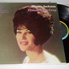 Discos de vinilo: WANDA JACKSON - CREAM OF THE CROP 1968 !! GREAT COUNTRY ROCKABILLY, RARA 1ª EDIC ORG USA, EXC. Lote 67107513