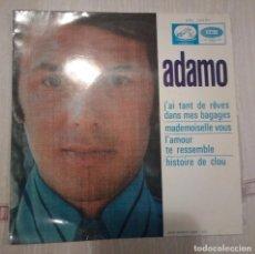 Discos de vinilo: ADAMO - J'AI TANT DE REVES DANS MES BAGAGES / MADEMOISELLE VOUS +2. Lote 106026859