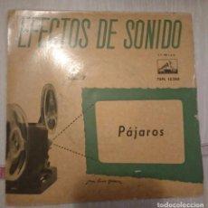 Discos de vinilo: DISCO DE EFECTOS DE SONIDO - PAJAROS. Lote 106029123