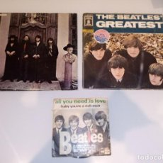 Discos de vinilo: LOTE VINILOS BEATLES ( AGAIN + GREATEST + BABY YOU'RE A RICHMAN ) ODEAN. Lote 106031027