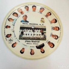 Discos de vinilo: HALA MADRID VINILO SINGLE ORQUESTA MARAVELLA REAL MADRID FUTBOL PICTURE DISC SPAIN 1972 - SAYTON. Lote 106051791
