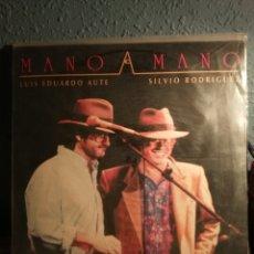 Discos de vinilo: SILVIO RODRIGUEZ Y LUIS EDUARDO AUTE. MANO A MANO. Lote 105980727