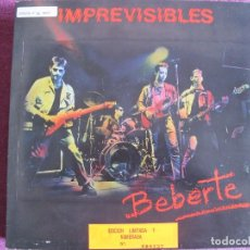 Discos de vinilo: MAXI - IMPREVISIBLES - BEBERTE (SPAIN, PERTEGAS RECORDS 1989) CONTIENE INSERT-EDIC. LIMITADA . Lote 106079747