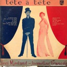 Discos de vinilo: LP URUGUAYO DE J. FRANÇOIS - Y. MONTAND AÑO 1958. Lote 106104855
