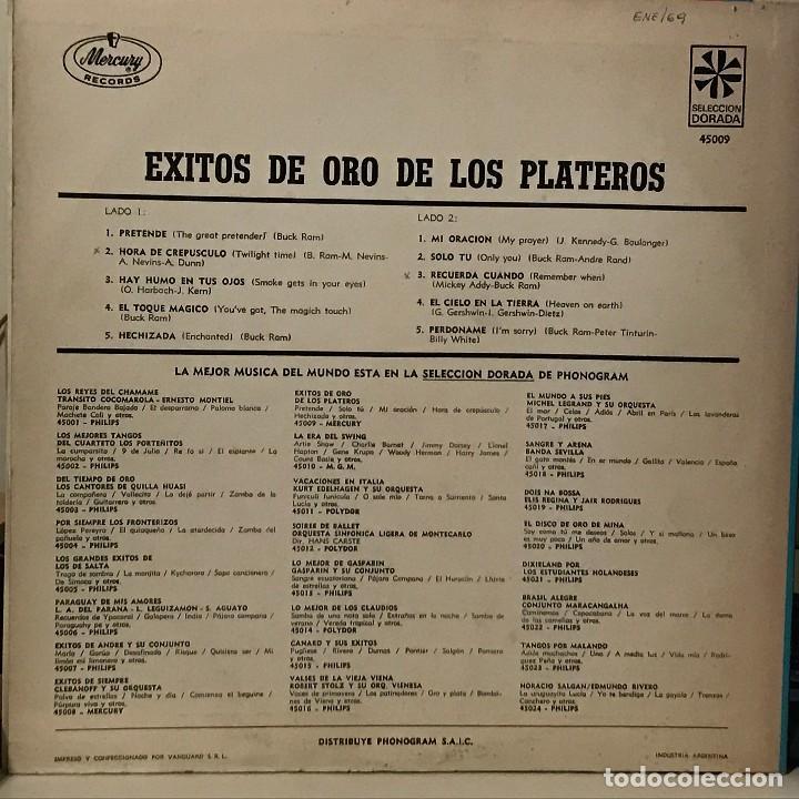 Discos de vinilo: LP recopilatorio de The Platters año 1968 edición argentina - Foto 2 - 106105051