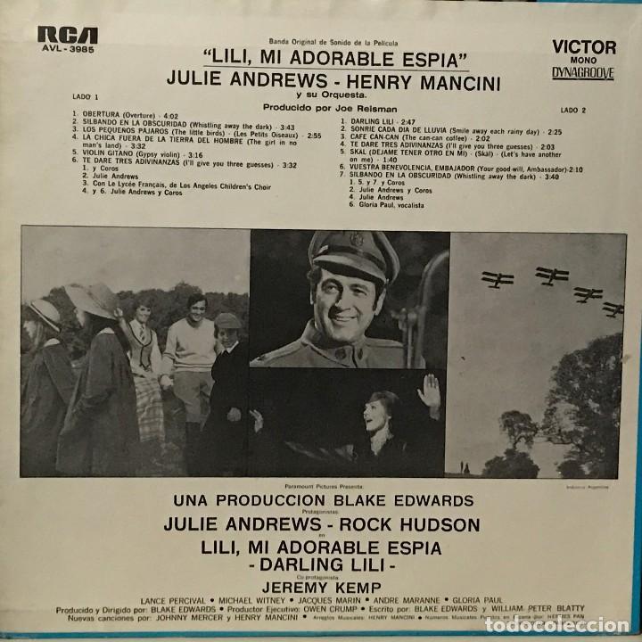 Discos de vinilo: LP BSO Darling Lili año 1969 edición argentina - Foto 2 - 106105435