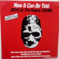 Discos de vinilo: DEVO- NOW IT CAN BE TOLD- DEVO AT THE PALACE 12/9/88- SPAIN 2 LP 1989-. Lote 106113171