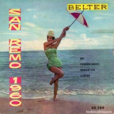 Discos de vinilo: JIMMY FONTANA - FESTIVAL SAN REMO 1960, EP, NOI + 3, AÑO 1960. Lote 106117315